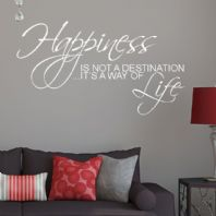 Happiness is Not a Destination ~ Wall sticker / decals